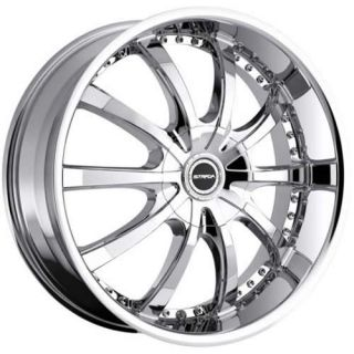 24x9.5 Chrome Strada Sole Wheels 5x5 5x135 +18 JEEP WRANGLER RUBICON