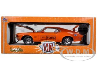 Brand new 124 scale diecast model car of 1970 Ford Mustang Boss 429