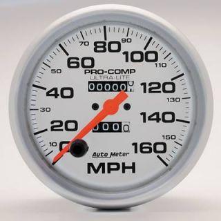 Autometer Ultra Lite Series Speedometer 0 160 MPH 5 Dia Mechanical