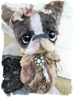 Antique RETRO Style ★ BOSTON TERRIER Vintage   Pity Puppy DOG