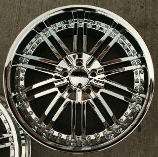 Menzari Z08 20 Chrome Rims Wheels Mercedes SL500 SL600 20 x 8 5 10 5H