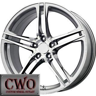 18 Silver Replica R8 Wheels Rims 5x100 5 Lug WRX Impreza Subaru XD