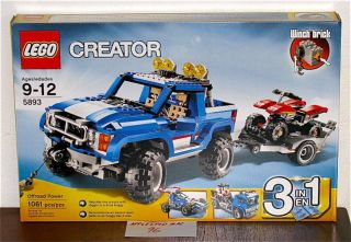 New SEALED Lego 5893 Creator Offroad Power Jeep ATV Truck Dune Buggy