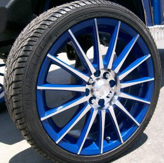 Blue 18 inch Golf Cart Rims Tires 4 Lug EZGO Club Car Yamaha