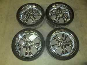 Helo 22x8 1 2 Wheels Rims w Tires 5 Lug Dodge