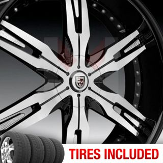 Lexani LX30 5x115 120 15 CB 74 1 Wheels Tires Rims Black Mac