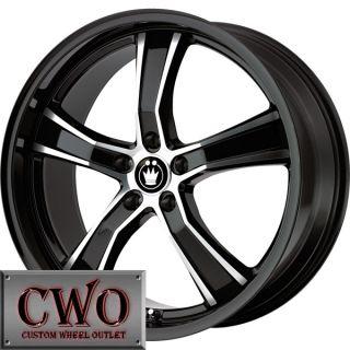 18 Black Konig Airstrike Wheels Rims 5x112 5 Lug VW Passat Audi A4