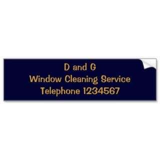 TRADES, WINDOW CLEANING BUMPER STICKER