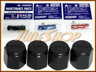 Volk Racing Rays Tire Valve Stem Caps Forged Aluminum Black