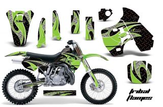 AMR Racing Dirt Bike Number Plate Background Deco Kit Kawasaki KX 500