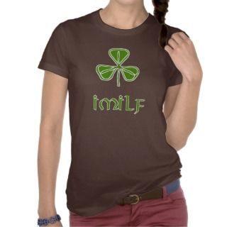 IMILF Funny Irish Womens Moms T Shirt