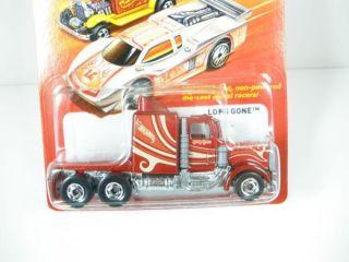 2012 Hot Wheels Hot Ones Long Gone Semi Truck