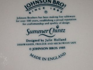 Johnson Brothers Summer Chintz 4 Dinner 10 1 2 Plates