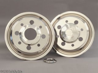 91 2009 Chevrolet 19 5 x 6 75 Stainless Dually Wheel Simulators Liners