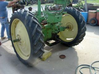 John Deere B 9 Bolt Press Steel Rims and 11 2 38 in Tires