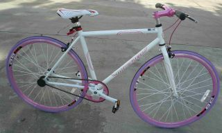 Fixie Fixed Gear Racing Bicycle Bike RD 269 53cm Lady White