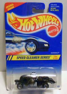 HOT WHEELS 1995 #315 SPEED GLEAMER RATMOBILE 7SP WHEEL VARI MINT ON