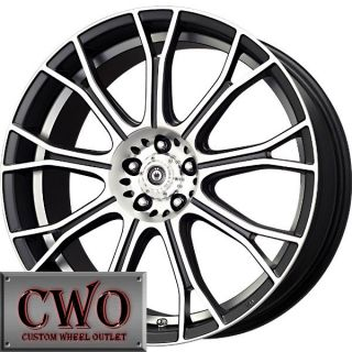 15 Black Konig Swurve Wheels Rims 5x100 5 Lug Jetta Golf Prius TC