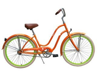New 26 Beach Cruiser Bicycle Lady Sakura Orange