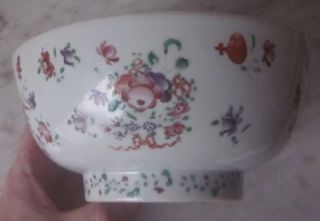 Antique Chinese Export Famille Rose Porcelain Bowl 18th Century