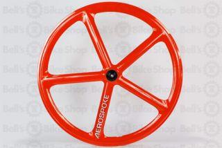 Aerospoke Track Rear Wheel Red Non Machined Fixed