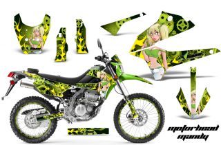 AMR Racing Motocross Number Plate Sticker D Tracker Kawasaki KLX 250