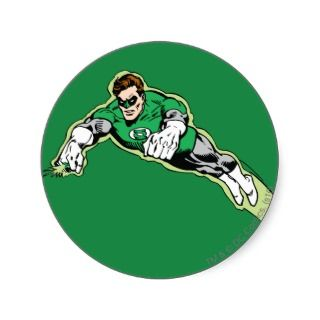 Green Lantern Energy Beam Round Sticker