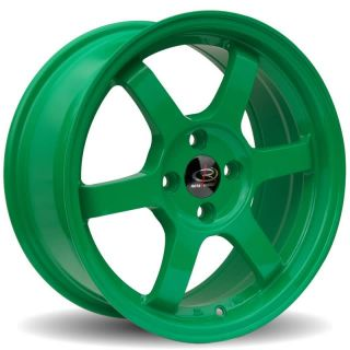 15 Rota Rims Grid Green Civic Integra CRX Sentra SI