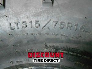 Used 315 75 16 Goodyear Wrangler Duratrac Tires 75R R16