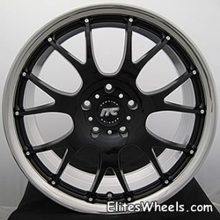 19 Staggered Black Rims ITC by Rays Engineering 5x120 BMW 330 328 323