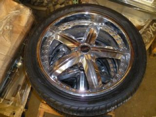 22 MHT Wheels with Falken Tires 305 40 R22 Like New Low Profile 4pcs