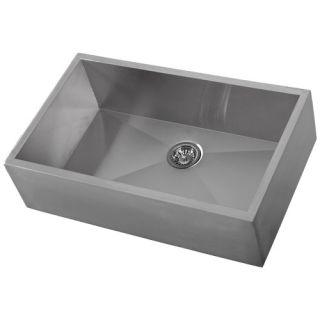 33 Stainless Steel Single Bowl Farm Apron Kitchen Sink
