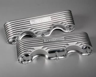 Cast Aluminum Valve Covers 5042 Chevy w Block 348 409 Polished