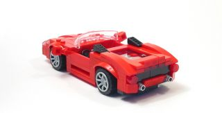 Lego Custom Red Mid Engine Sports Car City Town Racers 10211 8169 8143
