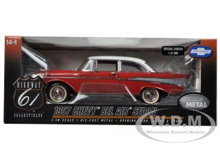 1957 Chevrolet Bel Air Red 1 18 1 of 300 produced Worldwide by Highway