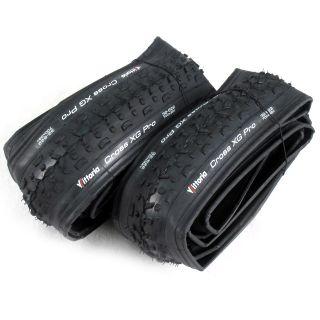 Pair Vittoria Cross XG Pro 700c x 32 Foldable Cyclocross Bike Tires
