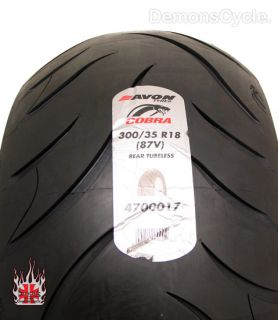 Rear 300 35 R18 AV72 Tire Avon Tires Wheel Rim 4 Harley