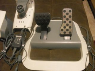 MICROSOFT XBOX 360 WIRELESS RACING WHEEL W/ POWER CORD DEMO DISC