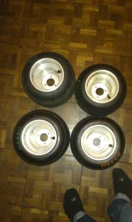 Racing Go Kart Tires and Wheels Used