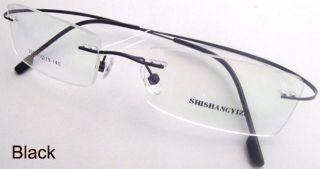 New Black Rimless Light Flexible Eyeglass Frame Eyewear Spectacles 302