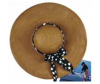 Women Ladies Wide Brim Large Fold Straw Summer Sun Beach Derby Hat