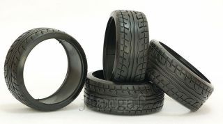 RC 4pcs Racing Speed Drift Tires Hard Rubber Tyre 1 10 on Road Car