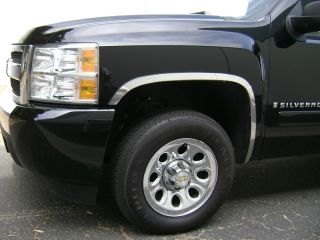 2007 2011 Chevrolet Silverado Stainless Fender Trim Chrome Accessories