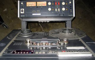 Otari MX 55 Reel to Reel Tape Deck Console on Portable Cart