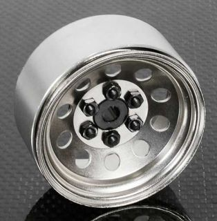 10 Scale Crawler 1 9 Silver PRO10 Steel Beadlock Wheels by RC4WD Z