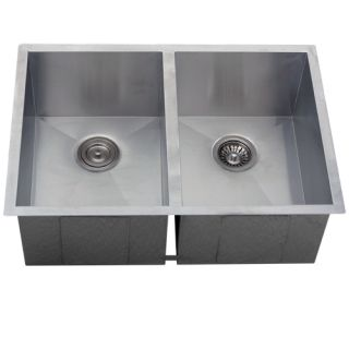 Undermount Stainless Steel Kitchen Sink Double Bowl 16g