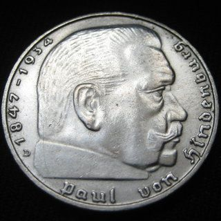 Nazi Silver Error Coin RARE Germany 3rd Reich 1939 D 2 Reichsmark KM