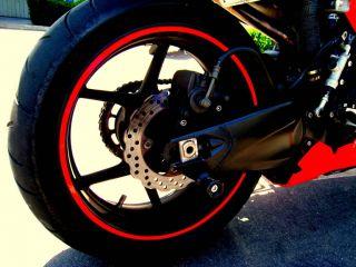 Red Reflective Motorcycle Rim Tape Wheel Sticker Ducati Monster 848