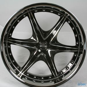 5x114 3 5x4 5 5x120 65 5x4 75 14mm Black Wheels Rims inch 22