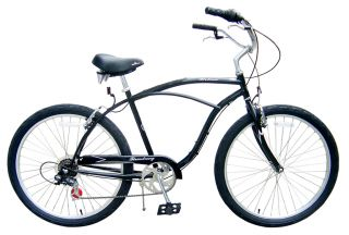 New 26 7 Speed Beach Cruiser Bicycle Bike Urban 7SPD